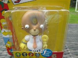 NEW Playmates World Of Springfield The Simpsons DONUT HEAD HOMER WOS Figure Toy