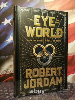 NEW SEALED The Eye of the World Robert Jordan Bonded Leather Wheel of Time OOP