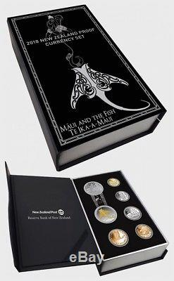 NEW ZEALAND 2018 Proof Currency Set Silver Coin(legend of Mui and the Fish)
