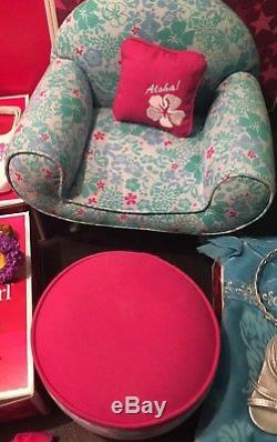 New American Girl Of The Year 2011 Kanani 18 Doll With Her World Clothes Chair