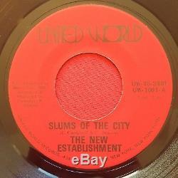 New Establishment-slums Of The City-rare Northern Soul Funk 45 Nm United World