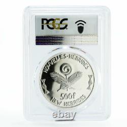 New Hebrides 500 francs Year of the Child PR63 PCGS silver coin 1979