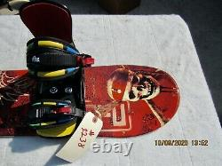 New Snowboard 101cm Bindings Jr. Disney's Pirates Of The Caribbean Worlds End
