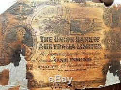 New Zealand 1 pound 1905 The Union Bank Of Australia Limited banknote