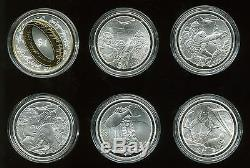 New Zealand 2003 $1 Lord of the Rings Proof Silver 6-Coin Set with Box and COA