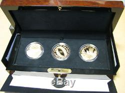 New Zealand- 2003 Gold $10 x3 Proof Coins Lord of The Rings Coin set! Scarce