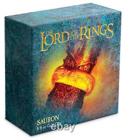 New Zealand 2021 1/4 OZ Gold Proof Coin- Lord of The Rings Sauron