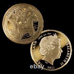 New Zealand- 2021 Gold Proof Coin Set Tangaroa Guardian of the Ocean