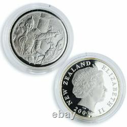 New Zealand set of 6 coins Lord of the Rings proof silver coin 2003