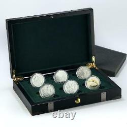 New Zealand set of 6 coins Lord of the Rings proof silver coins 2003