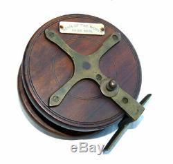 News of The World Prize Reel, 4-1/2 mahogany & brass nottingham starback