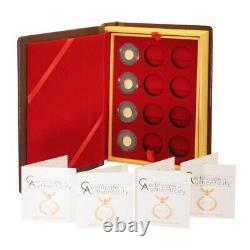 Palau 4 Gold Coins of the Roman Empire $1 2011 New Series Case with COA