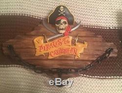 Pirates of the Caribbean Disneyland Disney World Talking Wall Mount Plaque NEW