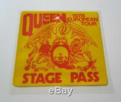 QUEEN European Tour 1978 Stage Pass News Of The World UK Concert