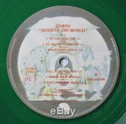 QUEEN News Of The World French 1978 Green Coloured Vinyl LP Album France