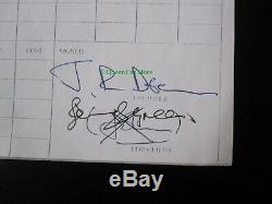 QUEEN Original John Deacon Signed News Of The World 1977 Album Session Log