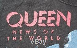 QUEEN Vintage Women's News Of The World Album Ladies T-Shirt