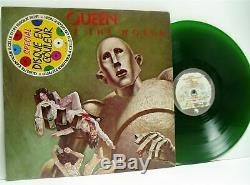 QUEEN news of the world (green vinyl) LP EX-/EX-, DC 3, vinyl album, lyric inner