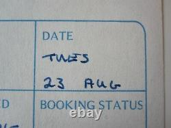 Queen Brian May Signed News Of The World 1977 Album Autographed Session Log