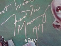 Queen, Freddie Mercury Autograph News Of The World Lp Silver Marker. Superb