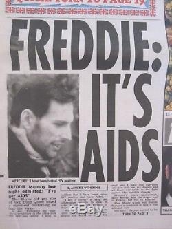 Queen Freddie Mercury It's Aids'' Uk News Of The World Newspaper 1991