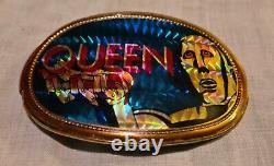 Queen Memorabilia- 1977- Pacifica Belt Buckle- News Of The World- Vintage- Rare