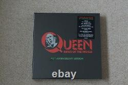 Queen News Of The World 40th BOXSET + LE Frank the Robot 12 Lithograph SEALED
