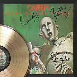 Queen News Of The World Framed Gold Lp Signature Display M4