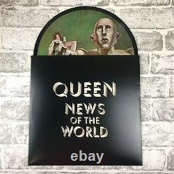 Queen News Of The World Picture Disc Record + Sixpence Pick Coin (2017) Rare
