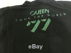 Queen News Of The World Tour The World'77 Tee Shirt Men's Medium Vintage