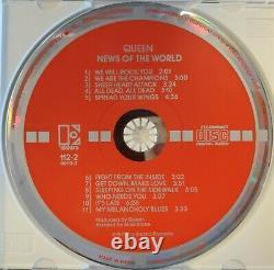Queen News of the World (CD, 1977, Elektra) RARE German Press/Target Label