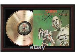 Queen News of the World Cherrywood Gold Signature Display M4
