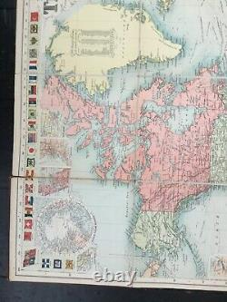 RARE Bacon's New Chart of the World Mercator's Projection