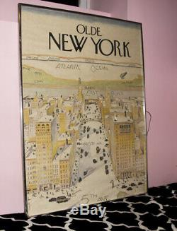 RARE Original 1976 The New Yorker cover View of the World from 5th Ave