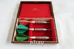 RARE vintage UNICORN Solid silver darts News of the World hallmarked 1973