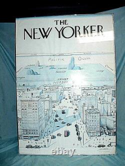 Saul Steinberg View of World from 9th Avenue The New Yorker 40X28 Poster Unmount