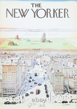 Saul Steinberg, View of the World from 9th Avenue The New Yorker, Poster, moun