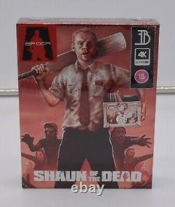 Shaun of the Dead / Hot Fuzz / The World's End 4K Bluray Steelbook Bundle NEW