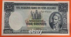 The Reserve Bank Of New Zealand 5 Pounds 1960 1967 Pick 160D UNC Note James Cook