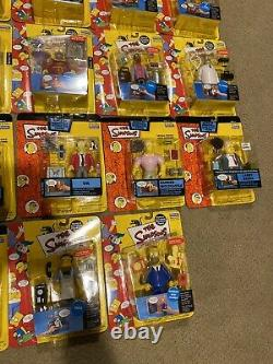 The Simpsons WOS World Of Springfield Playmates Figures Lot 28 Sealed Brand New