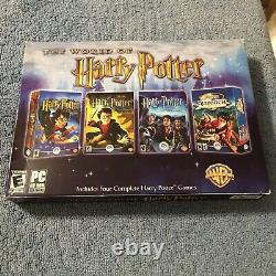The World of Harry Potter 4 PC CD-ROM Games (PC, 2005) Brand New Sealed