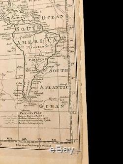Thomas Bowen A New and Complete Chart of the World Engraved map ca. 1788