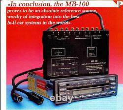 Top Hi-End AutoRadio Nakamichi MB-100. New in box. One of the last in the world
