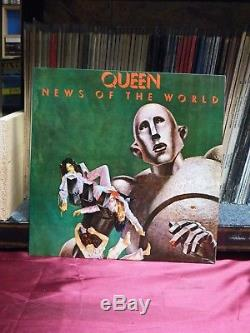 Used 12 LP M- Queen News Of The World 1977 EMI Chilean Import Rare