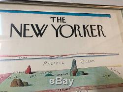 VINTAGE SAUL STEINBERG NEW YORKER View Of The World Framed 18 X 14