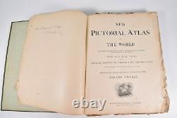 Vintage 1898 New Pictorial Atlas Of The World Rand McNally 11x14 In. 150+ Maps