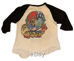Vintage 1977 Queen News Of The World US Tour Raglan Shirt Rare