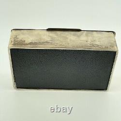 Vintage Solid Silver Cigarette Box E & N Speak 1946 Art Deco News Of The World
