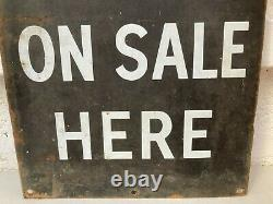 Vintage tin advertising sign The News of The World newspaper shabby wall art
