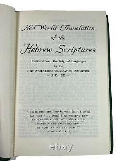 Watchtower New World Translation Of The Hebrew Scriptures Yankee Stadium 1958